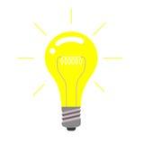 Vector light bulb icon, idea concept. Royalty Free Stock Photography