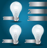 Vector light bulb idea with modern template design Royalty Free Stock Images