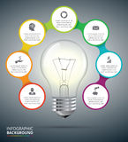 Vector light bulb for infographic. Stock Images