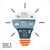 Vector light bulb infographic. Template for circle Stock Photo