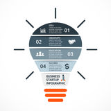 Vector light bulb infographic. Template for circle Royalty Free Stock Images