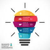 Vector light bulb infographic. Template for circle Stock Photos