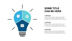 Vector light bulb infographic. Template for diagram, graph, presentation and layers chart. Business startup idea lamp Royalty Free Stock Photography
