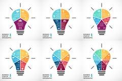 Vector light bulb infographics set. Template for Stock Photos