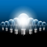 Vector Light Bulb Stock Photo