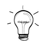 Vector light bulb , sketch of a bulb Royalty Free Stock Images