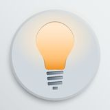 Vector light bulb symbol Royalty Free Stock Photography