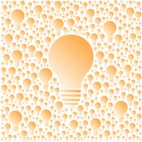 Vector light bulbs creativity and cooperation concept Royalty Free Stock Photography