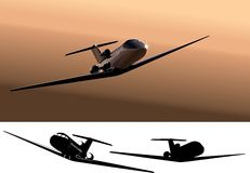 Vector light commercial jet Stock Photo