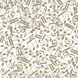 Vector light dotted music seamless pattern with musical notes on stock illustration