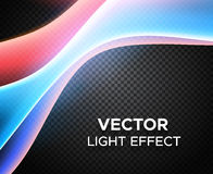 Vector light effect on checkered background Royalty Free Stock Image