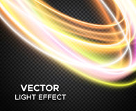 Vector light effect on checkered background Stock Photography