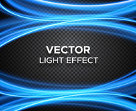 Vector light effect on checkered background Royalty Free Stock Photos
