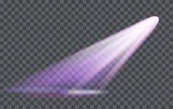 Vector Light Effect Spotlight with Transparency. Vector Light Effect Spotlight with Transparent Background Stock Photos