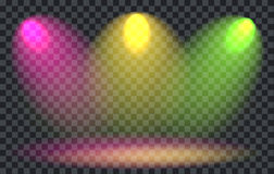 Vector Light Effect Spotlight. With Transparent Background Royalty Free Stock Images