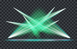 Vector Light Effect Spotlight. With Transparent Background Stock Images