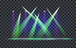 Vector Light Effect Spotlight. With Transparent Background Stock Image