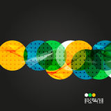 Vector light geometric compositions Stock Photography