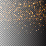 Vector light glitter particles background effect for luxury greeting rich card. Sparkling texture. Star dust sparks in Stock Photo