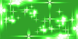 Vector light green shining background with light stars. For registration of paper or banners Stock Images