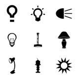 Vector light icons set Stock Photos