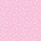Vector light pink hand drawn flowers repeat pattern. Suitable for gift wrap, textile and wallpaper royalty free illustration