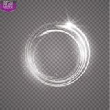 Vector light ring. Round shiny frame with lights dust trail particles isolated on transparent background. Magic concept. EPS 10 Stock Photography