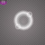 Vector light ring. Round shiny frame with lights dust trail particles isolated on transparent background. Magic concept. EPS 10 Stock Photo