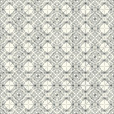 Vector light seamless pattern with interweaving of thin lines. Decoration graphic in mono line style. Simple abstract ornamental gray and gold illustration Stock Photos