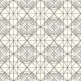 Vector light seamless pattern with interweaving of thin lines. Royalty Free Stock Photos