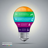 Vector lightbulb for infographic. Stock Photos