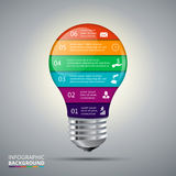 Vector lightbulb for infographic. Stock Photography