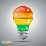 Vector lightbulb for infographic. Royalty Free Stock Image