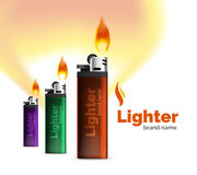 Vector lighter ad template with orange blaze Royalty Free Stock Photography