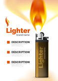 Vector lighter ad template with orange blaze Stock Photo