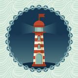 Vector lighthouse illustration Stock Image