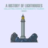 Vector lighthouse logo design templates in trendy linear style. Stock Photos