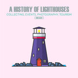 Vector lighthouse logo design templates in trendy linear style. Royalty Free Stock Photography