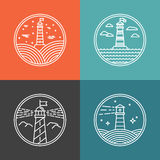 Vector lighthouse logos Stock Images
