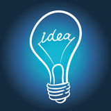 Vector lighting bulb Royalty Free Stock Images