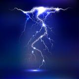 Vector lightning -  on blue background, luminous light effects Stock Photo