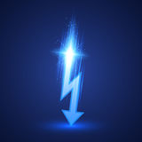 Vector Lightning Bolt Royalty Free Stock Photo