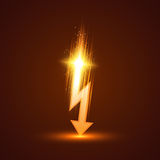 Vector Lightning Bolt Stock Images