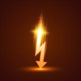 Vector Lightning Bolt. On dark background. Vector illustration Stock Images