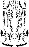 Vector Lightning Bolts. Vector Images of a Variety of Lightning Bolts Royalty Free Stock Photos