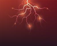 Vector lightning flash strike Royalty Free Stock Photo