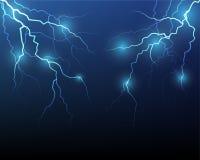 Vector lightning flash strike Stock Images