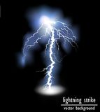 Vector lightning flash strike background Royalty Free Stock Photography