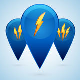 Vector lightning icons Stock Image