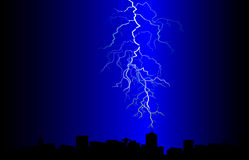 Vector lightning landscape. Royalty Free Stock Image